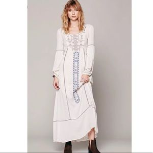 [Free People] Desert Winds Embroidered Maxi Dress
